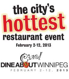 Post image for Dine About Winnipeg is back for another year
